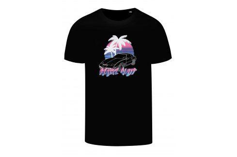 Černé pánské tričko s potiskem ZOOT Original Majkl Najt trika s krátkým rukávem