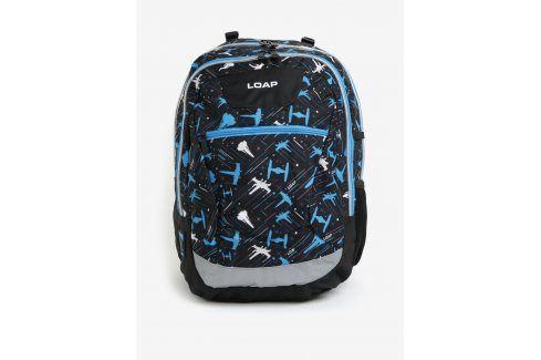 Černo-modrý klučičí vzorovaný batoh LOAP Ellipse 25 l Tašky a batohy