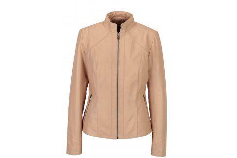 Světle růžová dámská kožená bunda KARA Stephie koženkové, kožené bundy