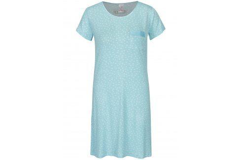 Světle modrá puntíkovaná noční košile M&Co košilky, noční košile