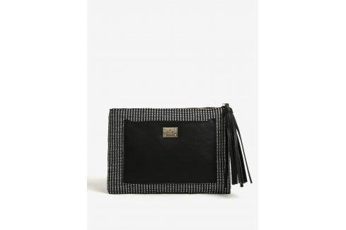 Bílo-černé vzorované psaníčko se střapcem Bessie London kabelky