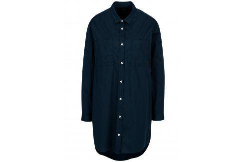 Tmavě modré dámské košilové šaty Makia šaty na denní nošení