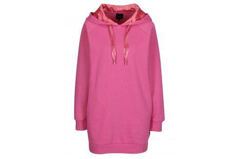 Růžová dlouhá mikina se stahovací kapucí ONLY Mynte Móda pro ženy