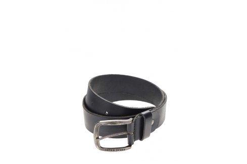Černý kožený pásek Jack & Jones Paul pásky