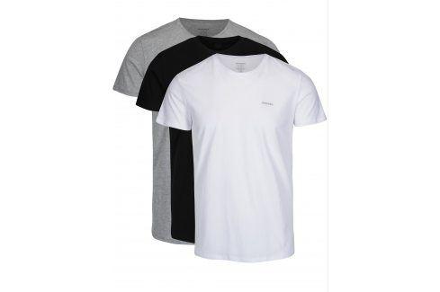 Sada tří triček pod košili v bílé, černé a šedé barvě Diesel trika pod košile