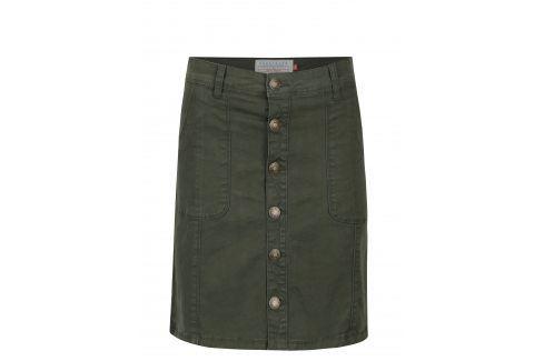 Tmavě zelená sukně s knoflíky Brakeburn Krátké