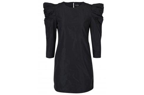 Černé šaty s 3/4 nařasenými rukávy Miss Selfridge společenské šaty