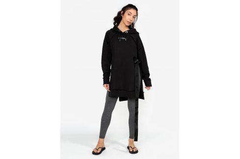 Černá dlouhá mikina s páskem a dlouhými rozparky Ivy Park Móda pro ženy