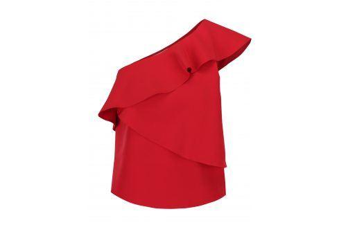 Červená halenka s volány Miss Selfridge halenky