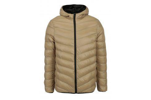 Béžová prošívaná bunda s kapucí Burton Menswear London bundy