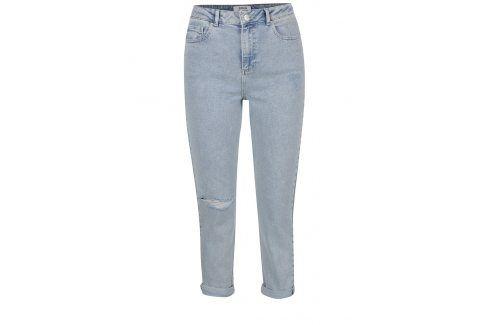 Světle modré džíny s vyšisovaným efektem Miss Selfridge Džíny, kalhoty, legíny