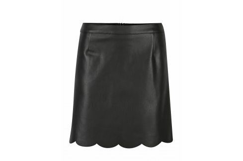Černá koženková sukně Miss Selfridge Krátké