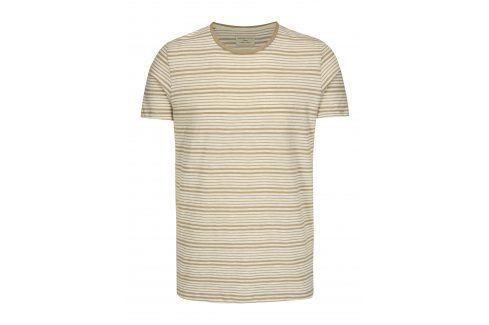Béžovo-krémové pruhované tričko Selected Homme Malthe trika s krátkým rukávem