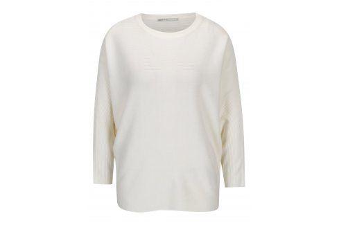 Krémový žebrovaný svetr s netopýřími rukávy ONLY Siff Móda pro ženy