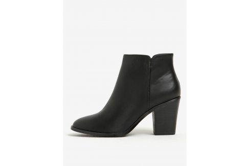 Černé dámské kotníkové boty Pieces Boty