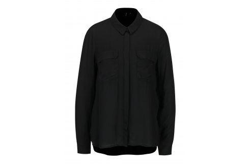 Černá košile s náprsními kapsami VERO MODA Koko košile
