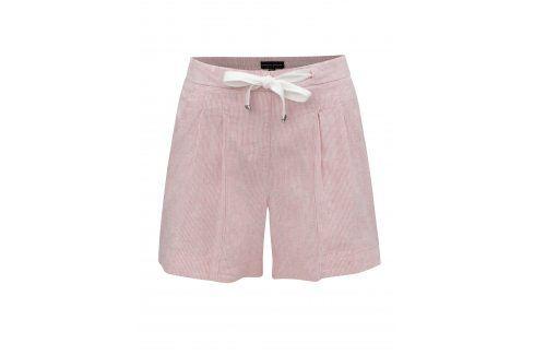 Světle růžové pruhované lněné kraťasy Dorothy Perkins Kalhoty, kraťasy