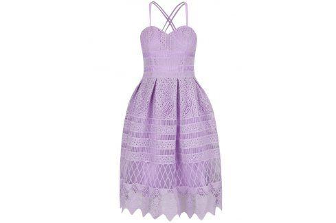 Fialové krajkové šaty Chi Chi London společenské šaty