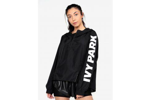 Černý šusťákový anorak s kapucí Ivy Park sportovní bundy