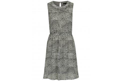 Světle šedé šaty se zvířecím vzorem Smashed Lemon šaty na denní nošení