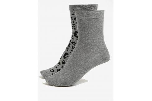 Sada dvou párů dámských ponožek v šedé barvě JELL ponožky