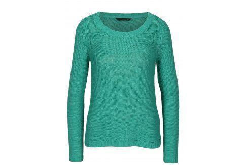 Tyrkysový pletený průsvitný svetr ONLY Geena Móda pro ženy