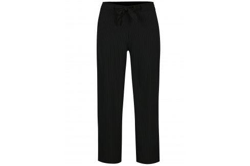 Černé pruhované kalhoty s vázankou Jacqueline de Yong Chung Džíny, kalhoty, legíny