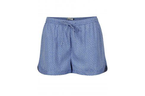 Modré kraťasy s drobným vzorem Blendshe Mally Kalhoty, kraťasy
