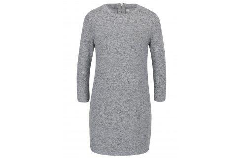 Světle šedé svetrové minišaty s 3/4 rukávy Haily´s Dina šaty na denní nošení