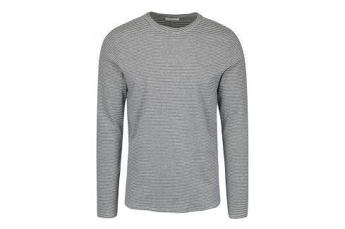 Modro-krémové pruhované tričko s dlouhým rukávem Selected Homme Ray trika s dlouhým rukávem