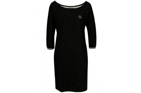 Černé mikinové žíhané šaty Horsefeathers Chicca šaty na denní nošení