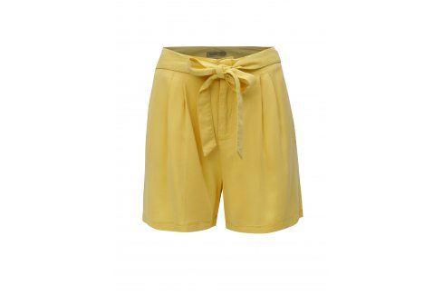 Žluté kraťasy s vysokým pasem VERO MODA Mia Kalhoty, kraťasy