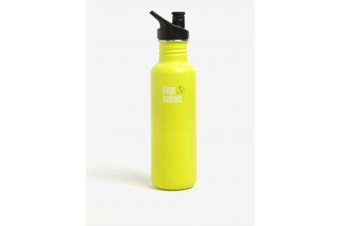 Žlutá nerezová lahev Klean Kanteen Classic 800 ml pití a jídlo s sebou