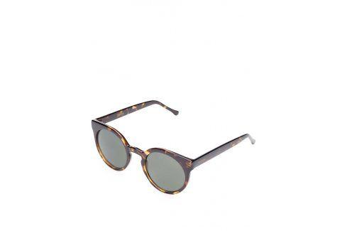 Hnědé dámské sluneční brýle s vzorovanými obroučkami Komono Lulu sluneční brýle
