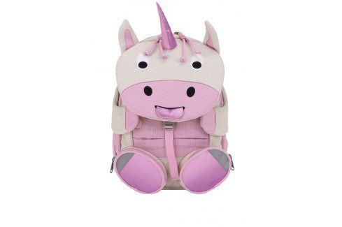 Krémovo-růžový batoh ve tvaru jednorožce Affenzahn 8 l Tašky, kabelky, batohy