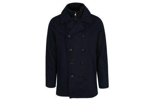 Tmavě modrý vlněný kabát Lindbergh kabáty