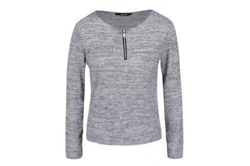 Světle šedé žíhané tričko s dlouhým rukávem Haily´s Mabel trička s dlouhým rukávem