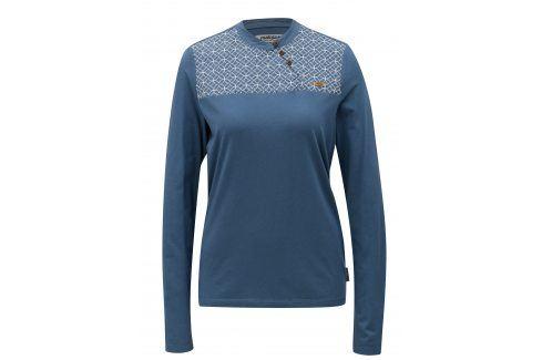 Modré vzorované tričko s výšivkou Maloja trička s krátkým rukávem
