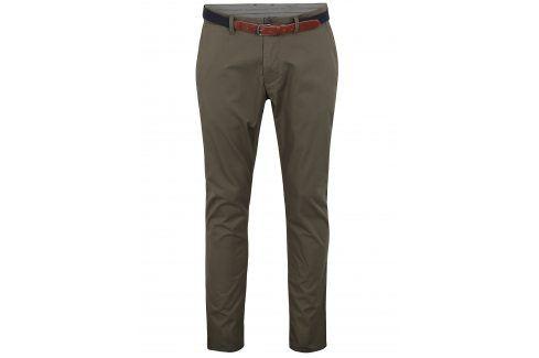 Khaki slim fit chino kalhoty Selected Homme Yard kalhoty
