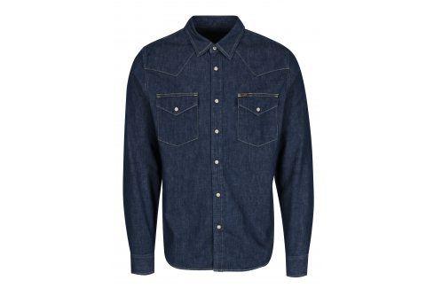 Tmavě modrá pánská džínová košile s kapsami Lee neformální