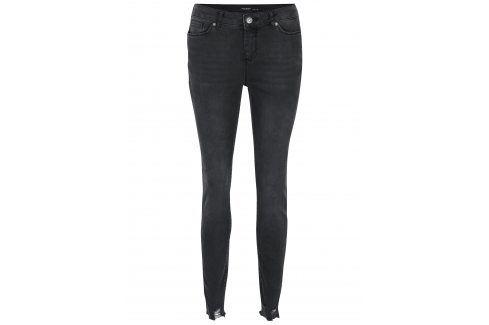 Tmavě šedé skinny džíny VERO MODA Seven Džíny, kalhoty, legíny
