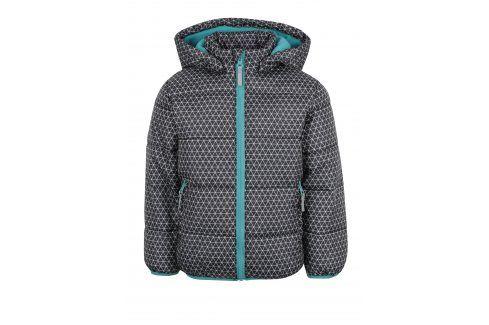 Tmavě šedá klučičí zimní prošívaná bunda s kapucí Blue Seven Bundy, kabáty, saka