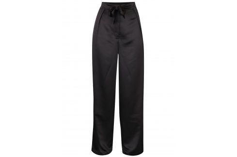 Černé volné kalhoty s vysokým pasem VILA Larissa Džíny, kalhoty, legíny