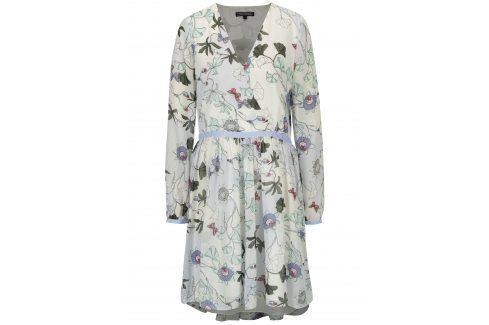 Krémové květované šaty Tommy Hilfiger šaty na denní nošení