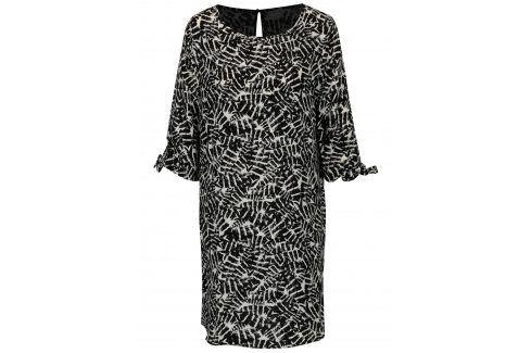 Krémovo-černé vzorované šaty Jacqueline de Yong Beyond šaty na denní nošení