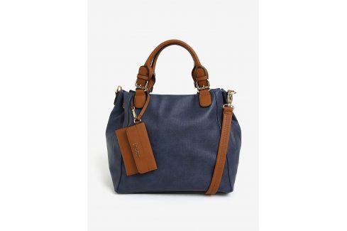 Tmavě modrá kabelka s přívěškem Bessie London kabelky