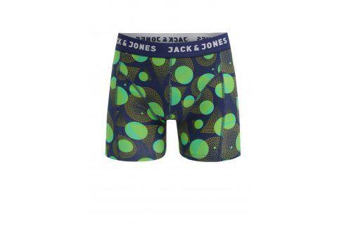 Zeleno-modré puntíkované boxerky Jack & Jones Path boxerky