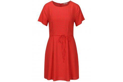 Červené puntíkované šaty ONLY Laura šaty na denní nošení