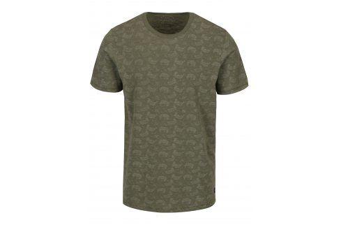 Zelené vzorované tričko s krátkým rukávem Jack & Jones Vincer trika s krátkým rukávem