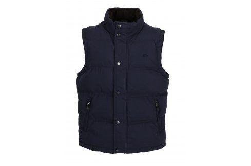 Tmavě modrá prošívaná zimní vesta Raging Bull vesty